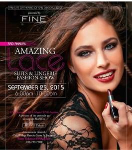 FINE Amazing Lace & Suit Fashion Show Cielo Village Rancho Santa Fe