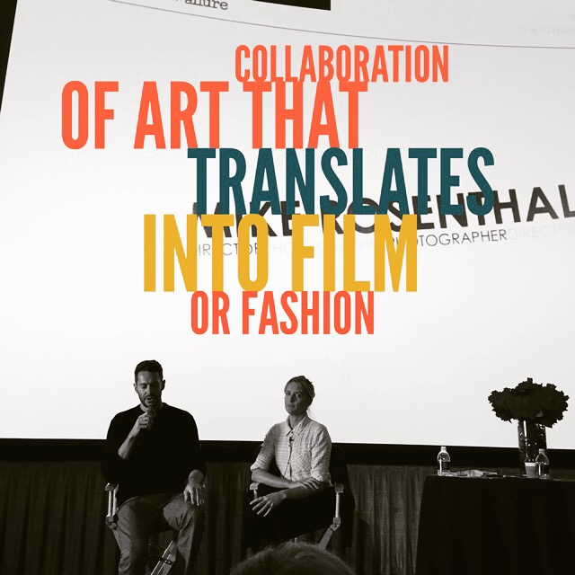 Collaboration of art that translates into fil or fashion