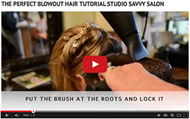 hair blowout tutorial